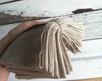 CADEAUX de fête des mère, famille Starter Set - serviettes en pur lin - lot de serviettes de table en dix réutilisable