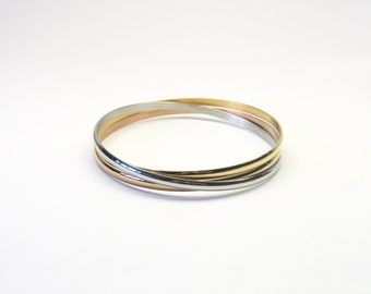 Bracelets 3-Pack stainless steel tricolour bracelet bracelets bracelet stainless Steel