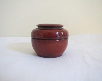 Burmese lacquer small pickle box