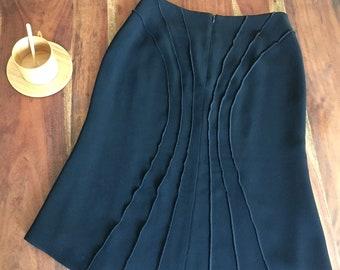Black high/low hem tulip skirt EU36