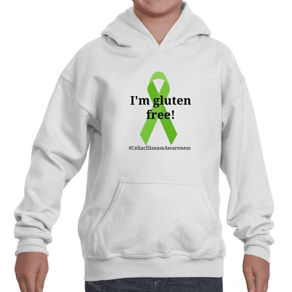 I'm Gluten Free Celiac Disease Awareness Hoodie Sweatshirt - Choose Color wjs4sd5