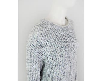 Vintage coarse knit sweater in bright shades