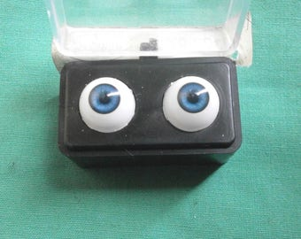 "pair of acrylic eyes blue 0.47""/12 mm / realistic eyes/ BJD/ Glastic/Vintage"