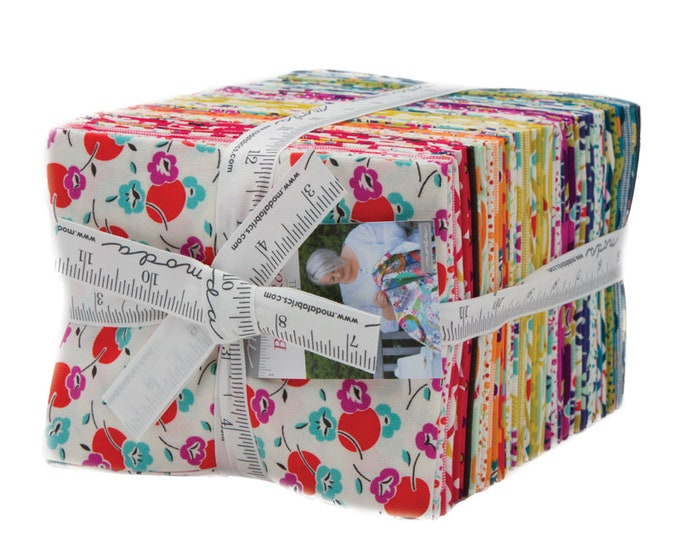 Featured listing image: Beach Road Fat Quarter Bundle, COMPLETE COLLECTION, 40 Fat Quarters, by Jen Kingwell for Moda Fabrics, Quilting Fabric Scraps--18132AB