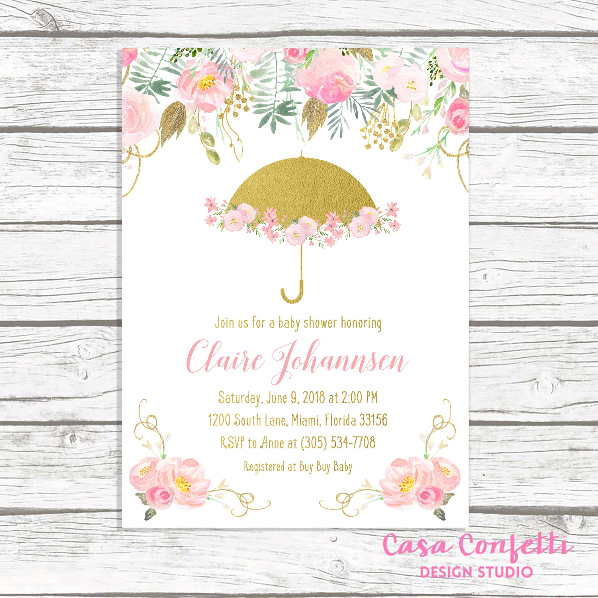 pink girl decoration invitations and spanish elephant gold shower amusing invitation baby excellent