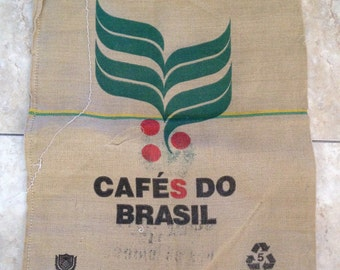 Produce of Brazil Burlap Coffee Sack