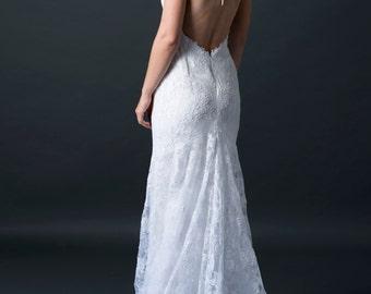 Lace wedding dress, lace bridal gown, reception dress, wedding dress, unique wedding dress, lace wedding dress