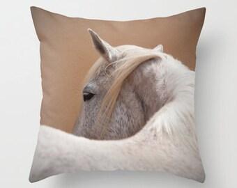 pillow cover, rustic decor, horse pillow, horse home decor, equine decor, ranch, barn, yellow, gold