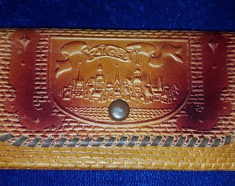 Hand Laced Leather Eastern Europe Wallet