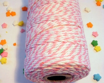Thick Bakers Twine Pink - 100 yard Spool - 12 ply