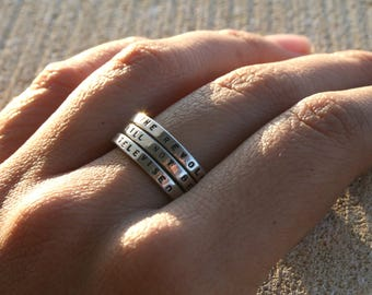 The Revolution will not be televised - Gil Scott-Heron Hand stamped Silver Quote Ring '-Sterling Silver