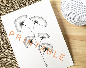 PRINTABLE black and white plant