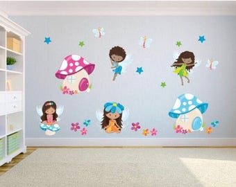 Girlu0027s Wall Stickers   Fairy Wall Stickers   Fairy Wall Decals For Girlu0027s  Bedroom Or Playroom