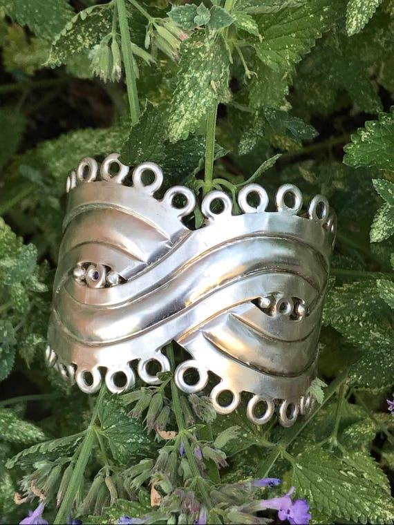 1940-1944 William Spratling Sterling Silver Cuff Bracelet Taxco
