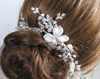 Hair Accessories, Hair Jewelry, bridal hair comb, wedding hair comb, crystal hair comb, rhinestone hair comb, bridal pearl comb, headpieces