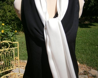 Off White Silk Scarf, White Scarf, Silk Scarf, Scarf