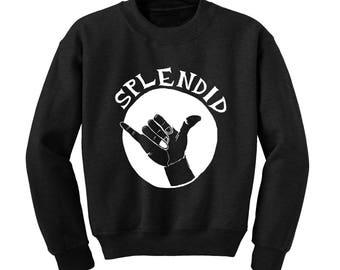 SPLENDID HAND GESTURE Graphic Sweatshirt Funny Radical Signal Hipster Rad Sign  