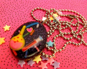 Mad Scientist - Resin Sparkle Necklace