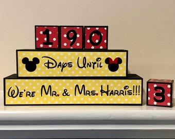Disney Wedding Countdown Blocks
