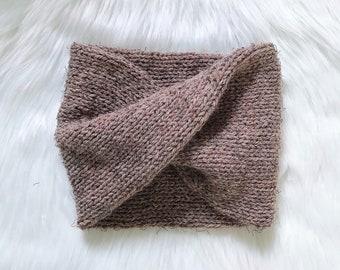 Wool Turban Ear Warmer in Blush