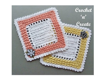 Square Doily Crochet Pattern (DOWNLOAD) CNC51