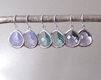 Silver Teadrop Earrings