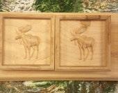 Pair of Moose Shelf Brack...