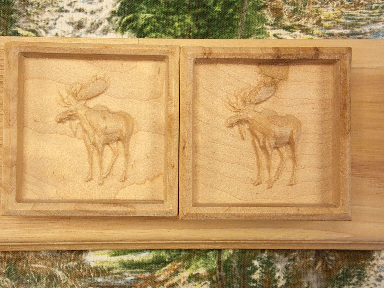 Pair of Moose Shelf Brackets Wooden Corbels Moose Shelf