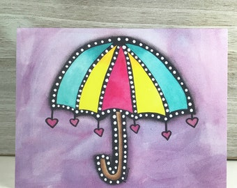 Joy Umbrella -  Blank Greeting Card - Any Occasion