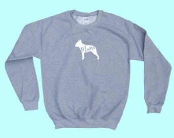 "Boston Terrier ""MAMA"" - Dog Mama Crewneck Sweatshirt"