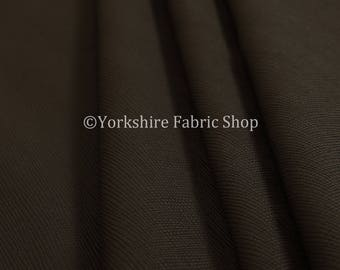 Soft Faux Leather In Plain Textured Matt Finish Brown Colour Upholstery Fabric  - Sold By The 10 Metre