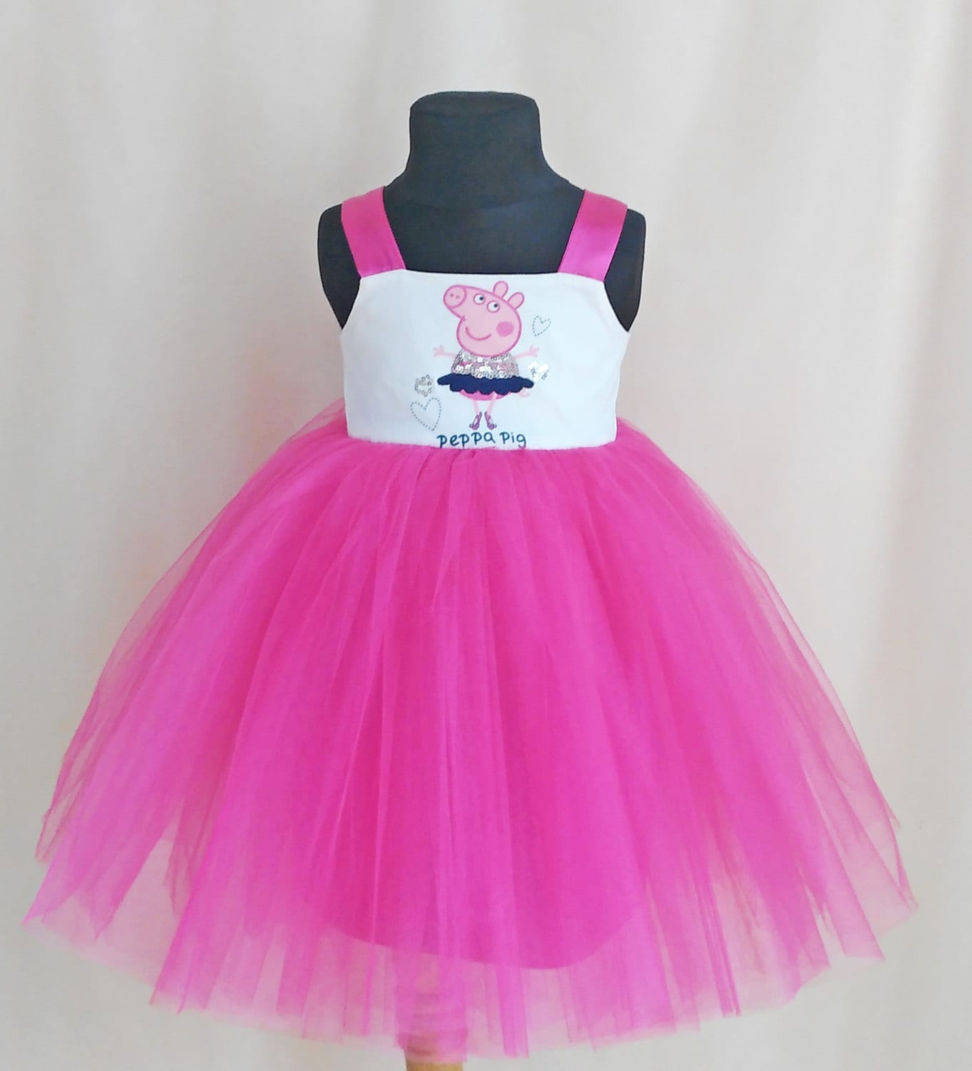 Soft Pink Tulle Peppa Pig Ballerina Dress Birthday Dress With # Muebles De Peppa Pig