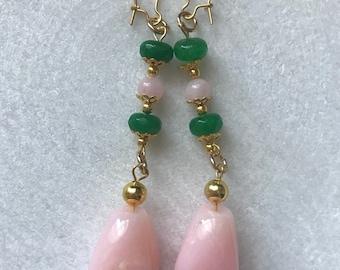 Pink fairy floss earrings