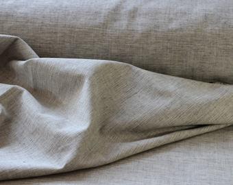 Grey Marl Crossweave 100% Organic Cotton Fabric