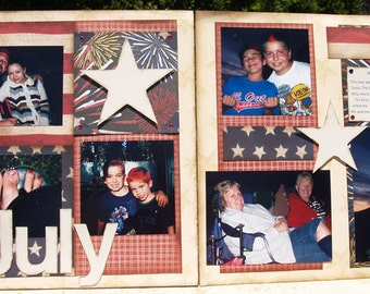 4th of July 2-Page Scrapbooking Kit 12x12