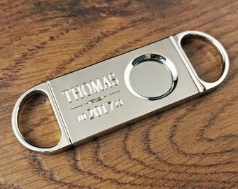 Cigar Cutter with Free Engraving, Personalized for Cigar Smoker, Personalized Great Smoker Accessory,