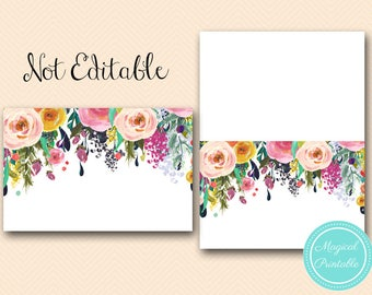 Floral Garden Tent Labels. Food Tent Labels,  Food Labels, Bridal Shower Labels, Bridal Shower Decorations, baby shower decor TLC140 BS138