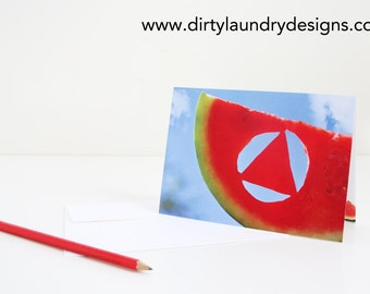 Another Year of Sobriety! Greeting Card DL44- Watermelon