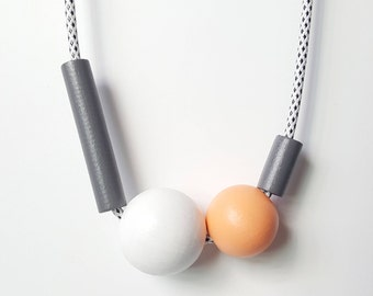 Contemporary Wood Necklace
