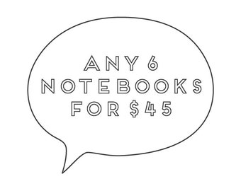 Notebooks / Set of 6
