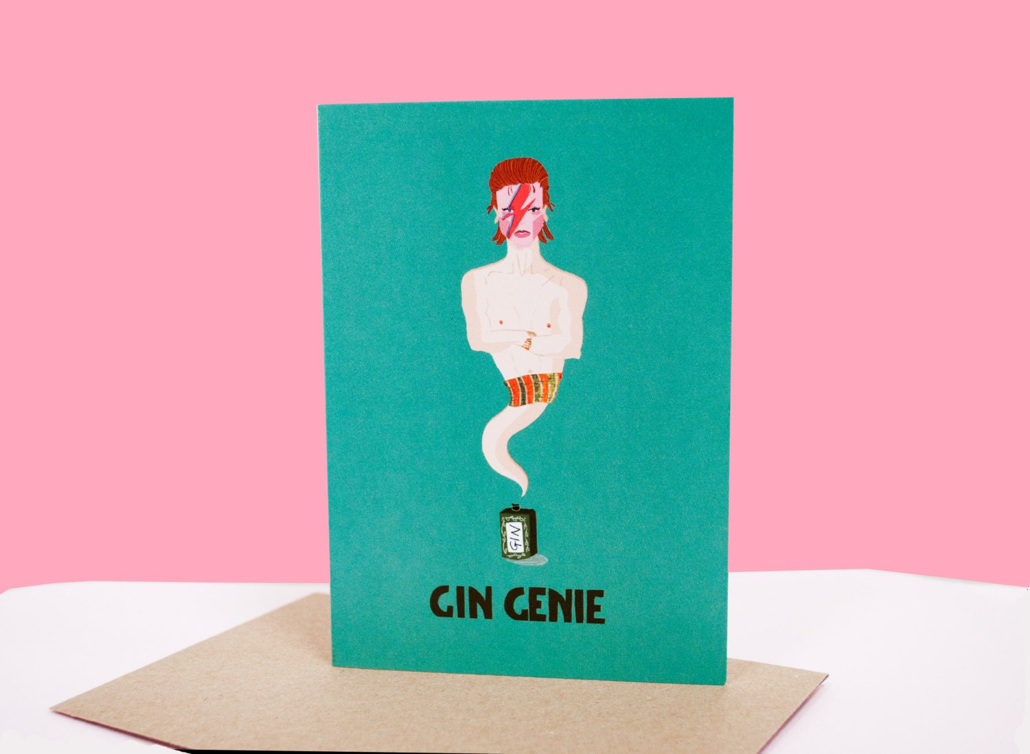 Gin genie greeting card birthday card puns humour zoom kristyandbryce Gallery
