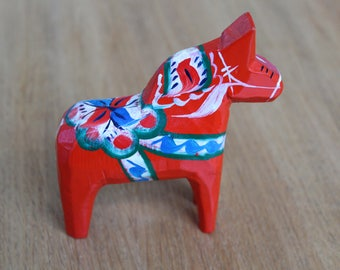 Vintage Swedish Dala Horse - Scandinavian - Folk - Sweden