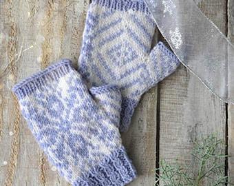 Snowflake Mitts Knitting Kit 12 Days of Winter