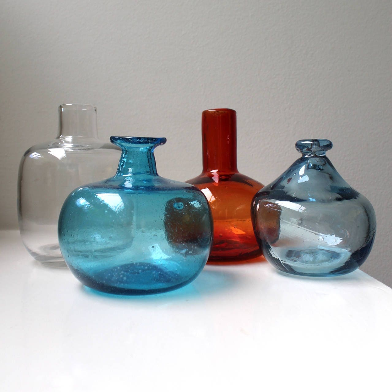 Mid century modern glass bud vase art glass bottles 2 hand zoom reviewsmspy