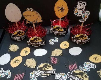 Printable Jurassic Park Centerpieces and Table Scatter Confetti for Party Decorations , Instant Download Jurassic Park Decorations