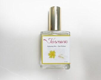 Jasmine Hair Perfume - Hair Mist, Argan Hair Milk or Argan Hair Gloss - with Silk Protein, Horsetail Extract and Marshmallow Root - 2oz