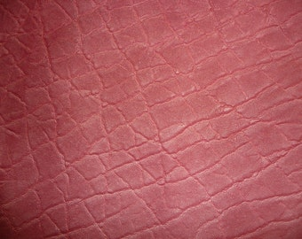 """Leather 8""""x10"""" Distressed PINK ELEPHANT Embossed Cowhide 2.5-3oz/1-1.2 mm PeggySueAlso"""