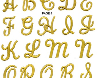 FABRIC Iron On Colourful LETTER'S NUMBER'S Embroidered Applique Motif Alphabet