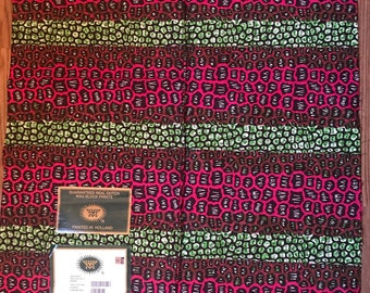 1 yard pink and green African ankara/ abosea/pebbles design Wax fabric/ethnic fabric/ traditional fabric/ African Material/ cloth/ dashiki