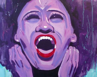 """African American art- poster print - """"Angry Black Woman"""""""